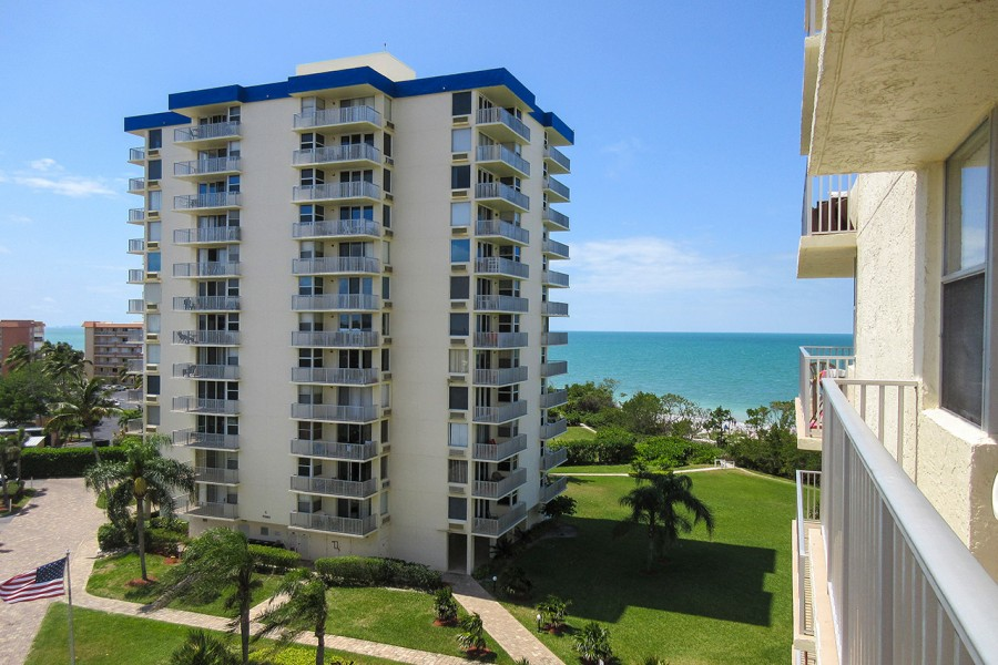 Gulf View From Balcony of 608B