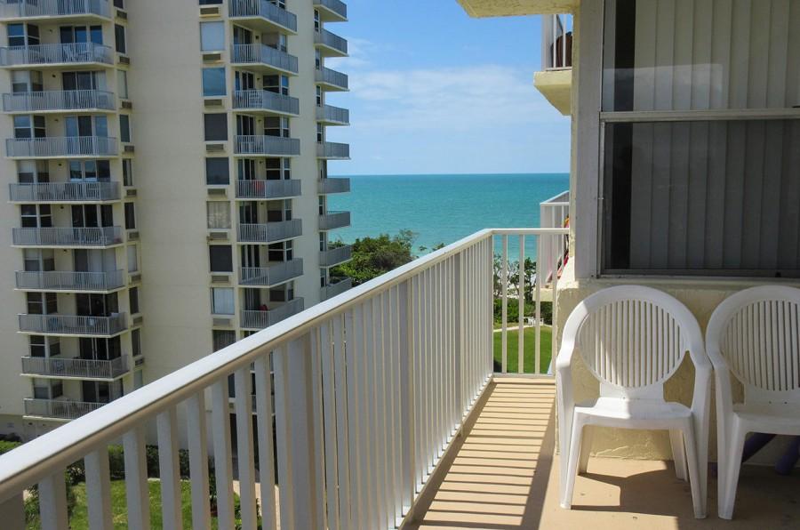 Balcony gets plenty of sunshine