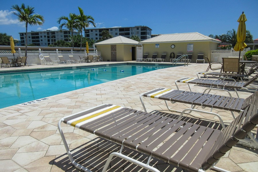 Sand Caper Resort Sized Pool and Sundeck Area