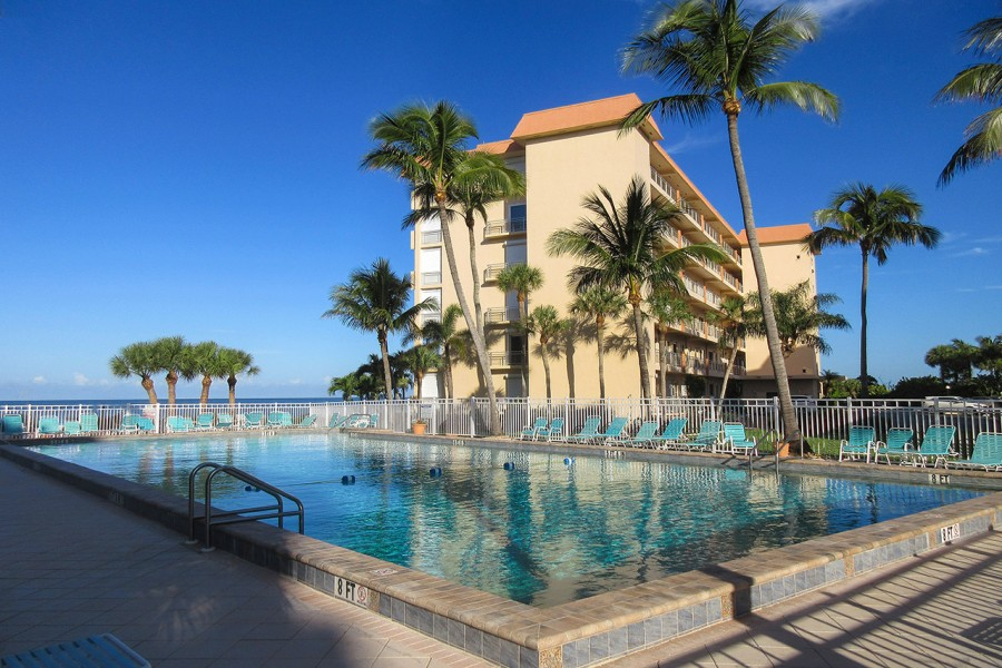 Leonardo Arms Beachfront Condos features Resort Sized Heated Pool