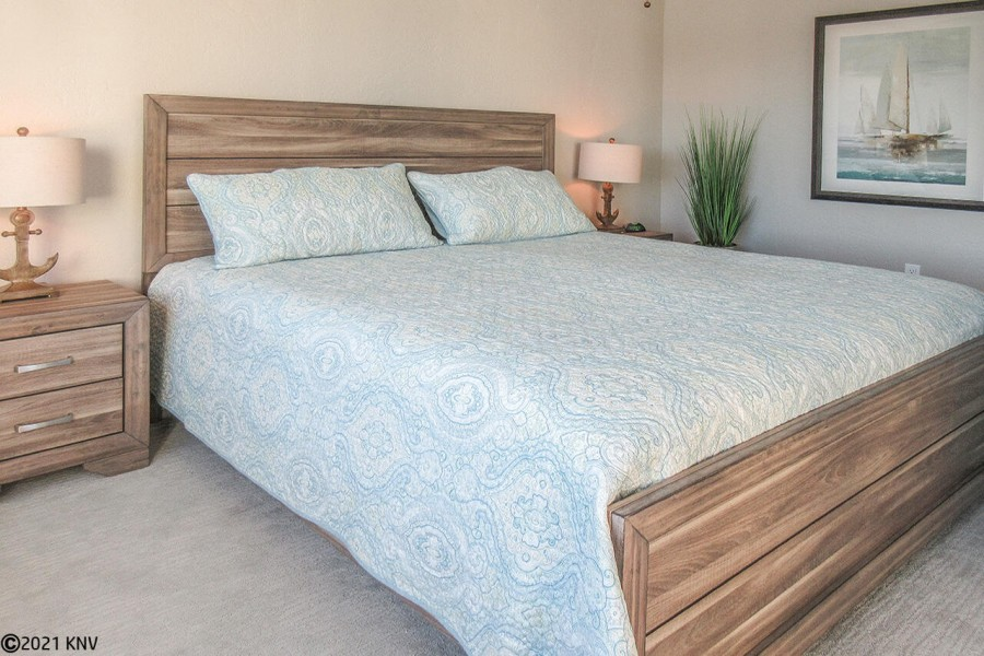 Comfy King Sized Bed in Master