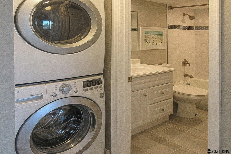 Washer Dryer in the condo for your convenience