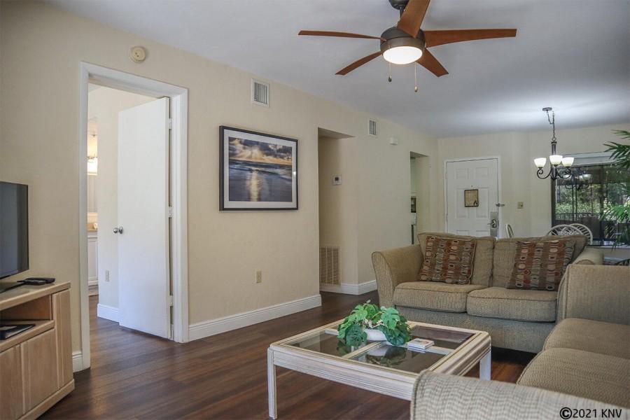 Open concept living area at Santa Maria 111