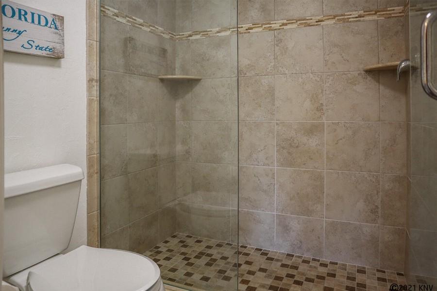 Huge tiled Walk In Shower