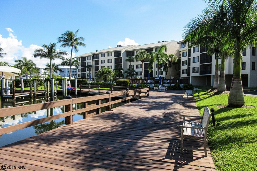 Walkways and BBQ Areas sit on the canal waters