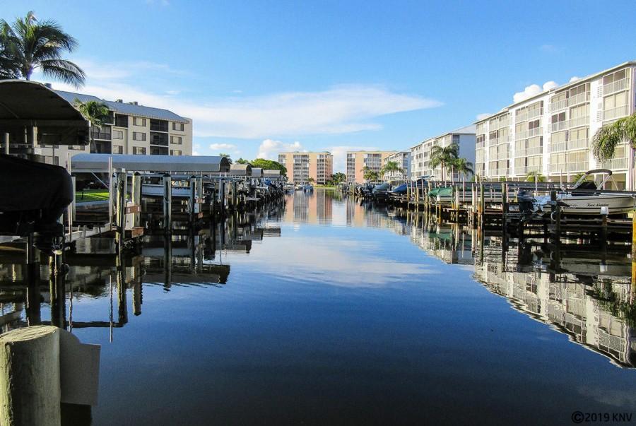 Nice wide canals surround Santa Maria Condominiums