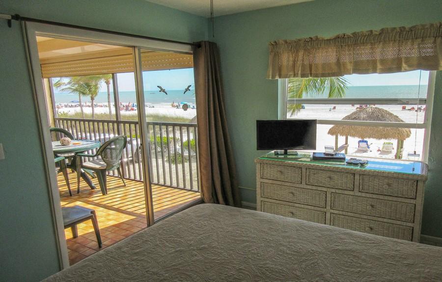 Estero Sands 103 Master Bedroom - Good morning sunrise on the beach