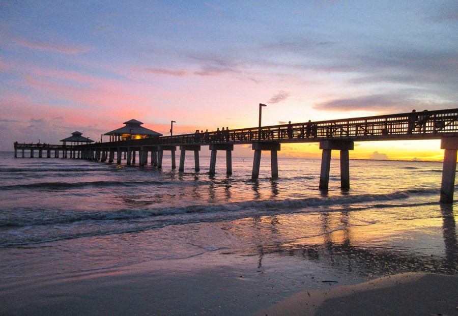 Fort Myers Beach - The Pier at Sunset