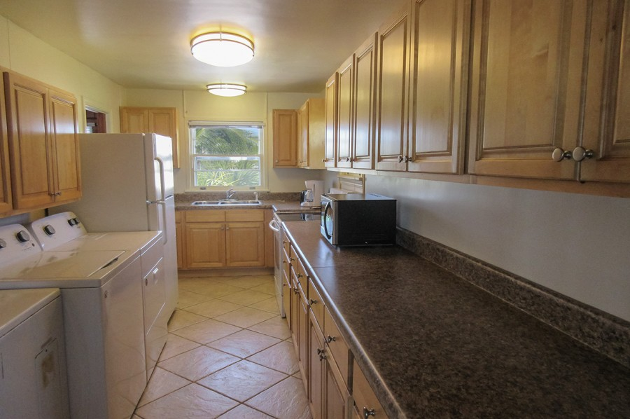 Kitchen with washer/dryer