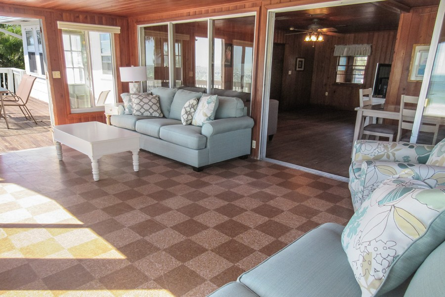 Sunroom leads to the sundeck