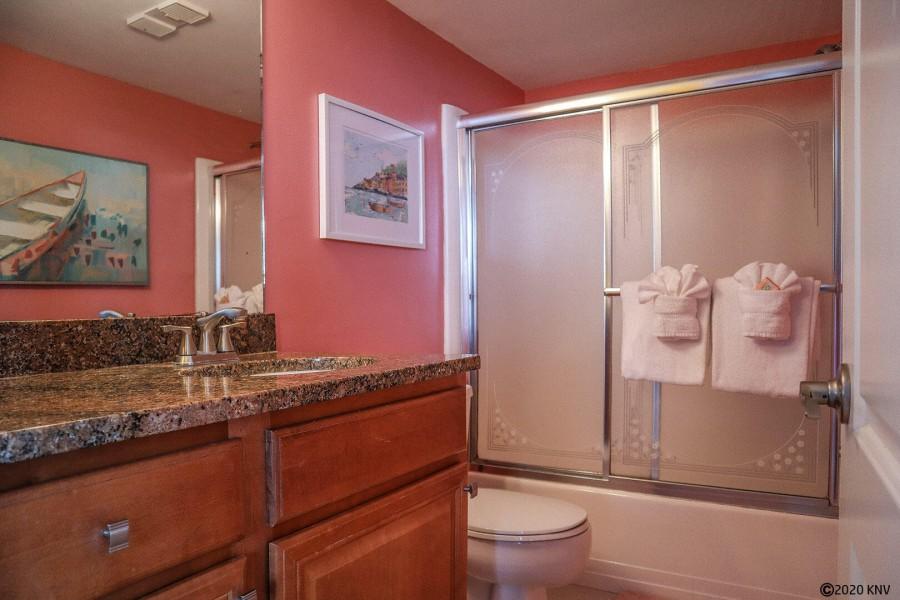 Granite Topped Vanity in your Full Bath