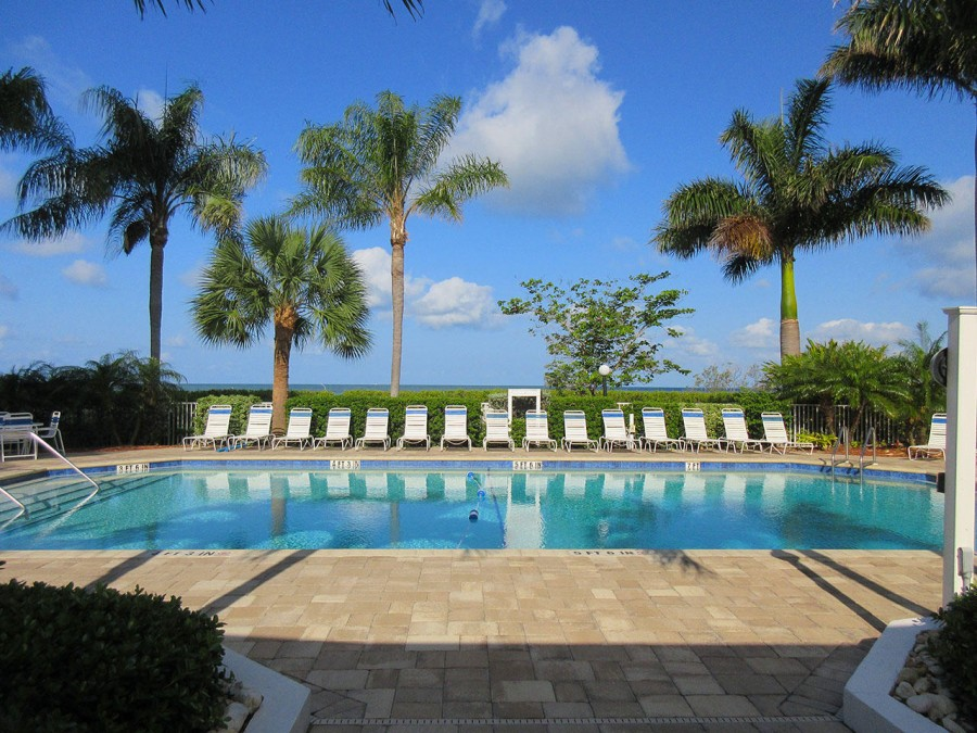 Resort Sized Heated Pool at Estero Beach And Tennis Club