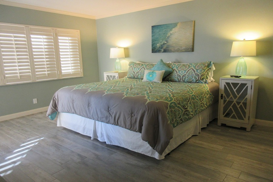 Sand Caper 108 Master Bedroom with King Sized bed and private lanai access