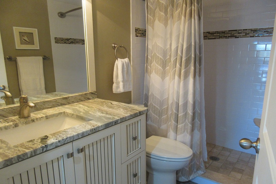 Sand Caper 108 Master Bath with walk in shower