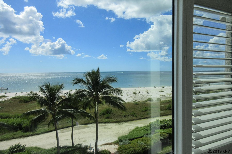 Riviera Club 406 Master Bedroom has a view of the Gulf