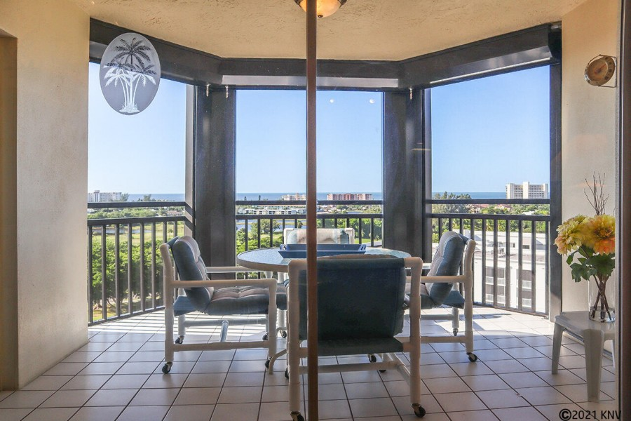 Screened In Lanai With Comfortable Furniture at Harbour Pointe 1014S