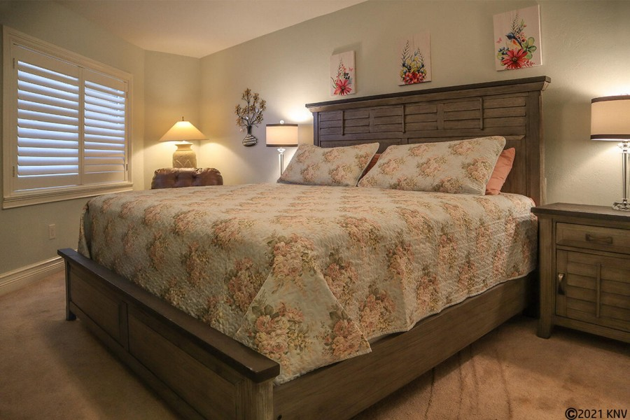 King Sized Bed in Guest Bedroom