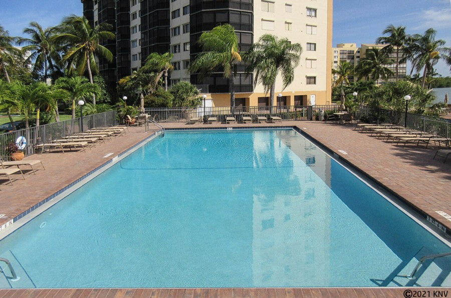 Resort Sized Heated Pool with huge Sundeck Area and Clubhouse