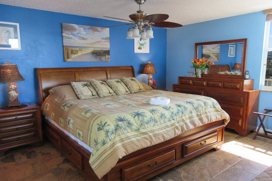 King Sized Bed at Estero Beach And Tennis Club 803C