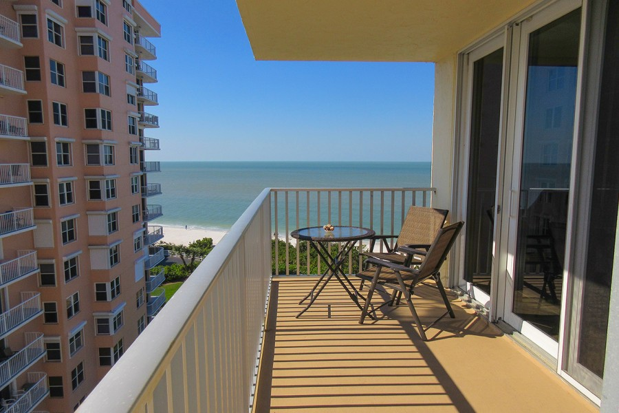 Gulf View from Balcony of Estero Beach And Tennis Club 803C