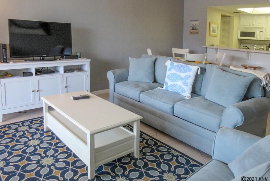 Large Flat Screen TV, Sleeper Sofa and Sleeper Chair