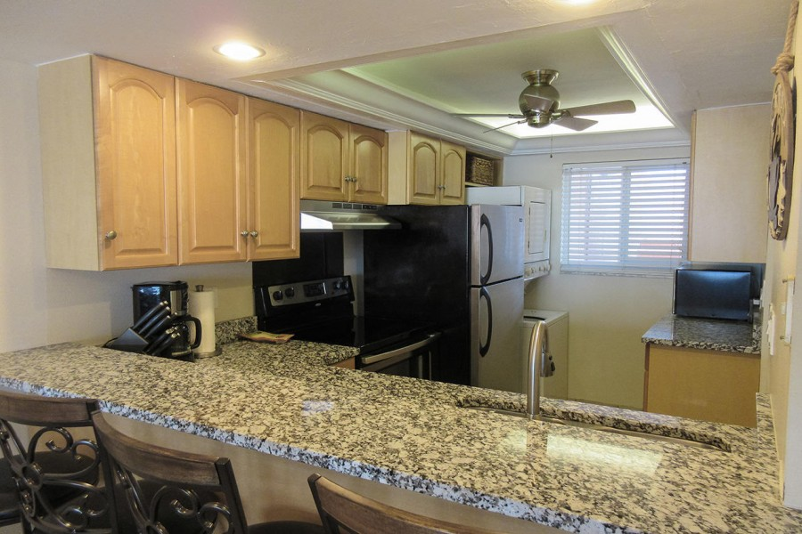 Fully Equipped Kitchen at Castle Beach 302