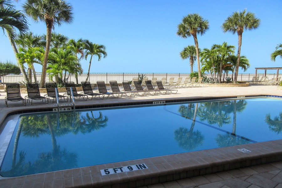 Carlos Pointe Resort Sized Heated Pool on the Beachfront
