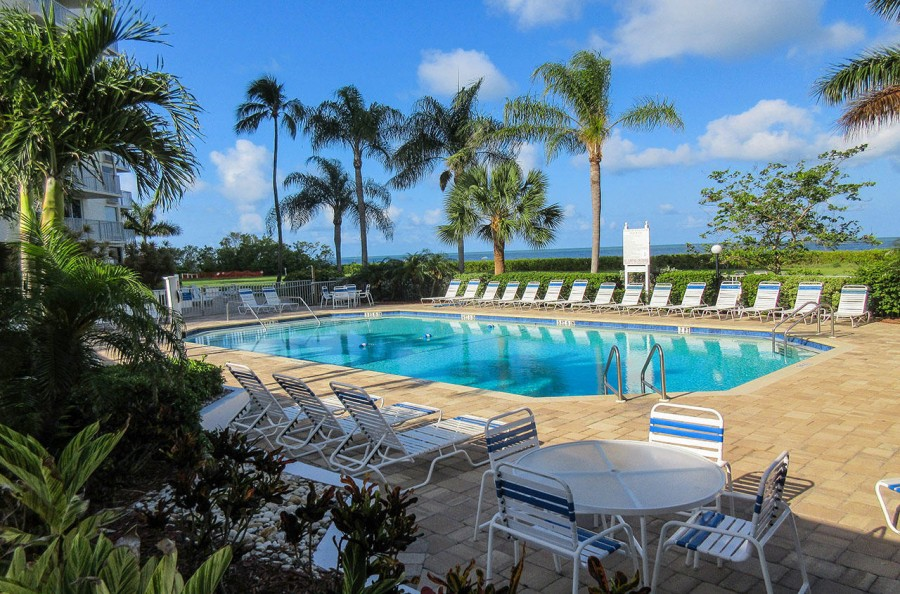 Resort Pool at Estero Beach And Tennis Club