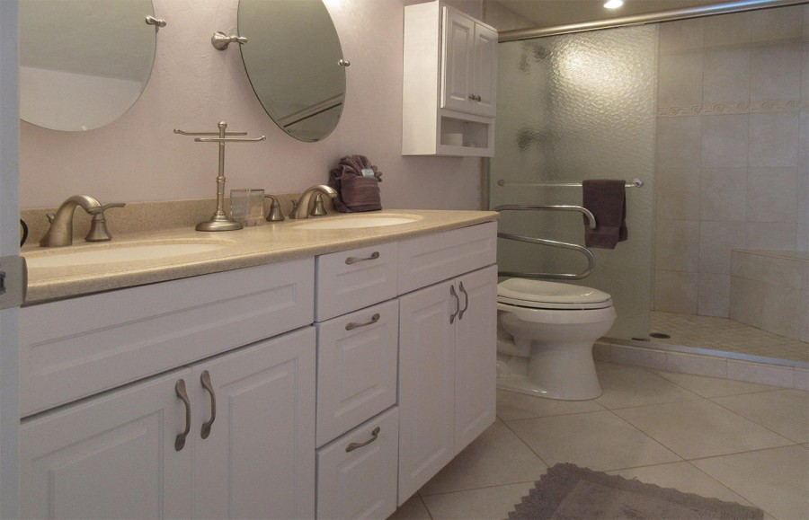 Master Bath has double vanities