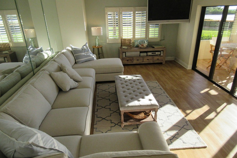 Comfy seating in the living room with fantastic view