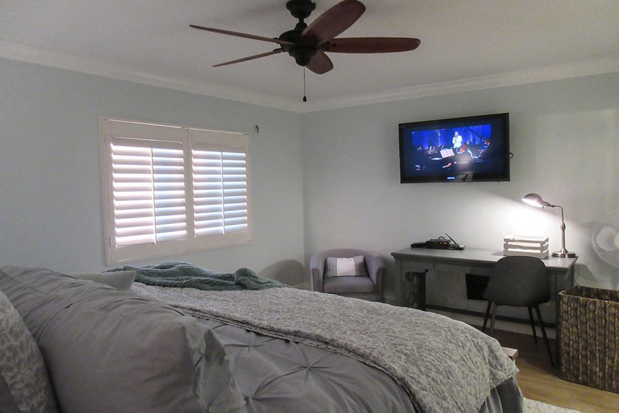 Master Bedroom with it's own large screen TV