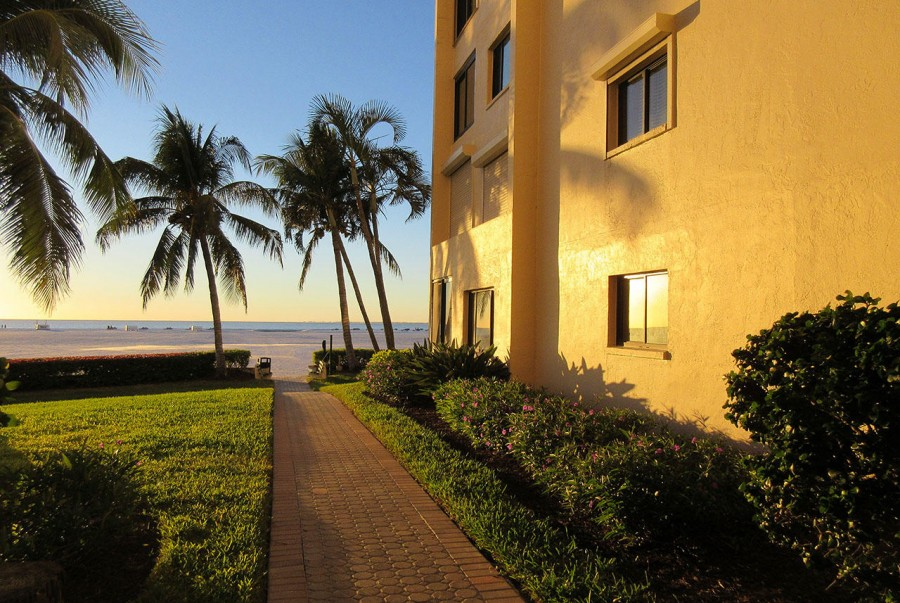 Just steps from the Courtyard to the Beach