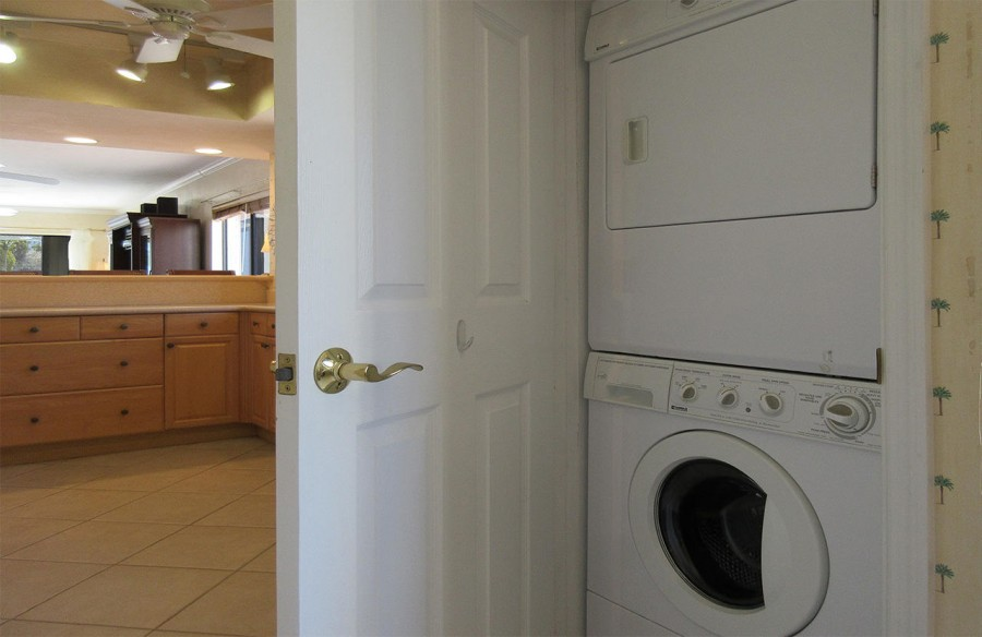 Washer Dryer in the unit for your convenience