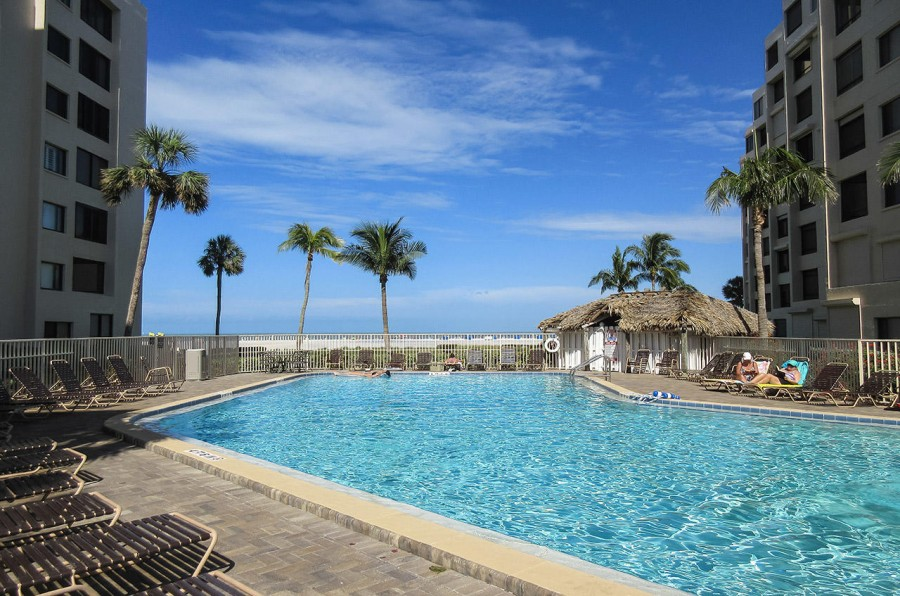Heated Pool at Sandarac Beachfront Resort Condominiums