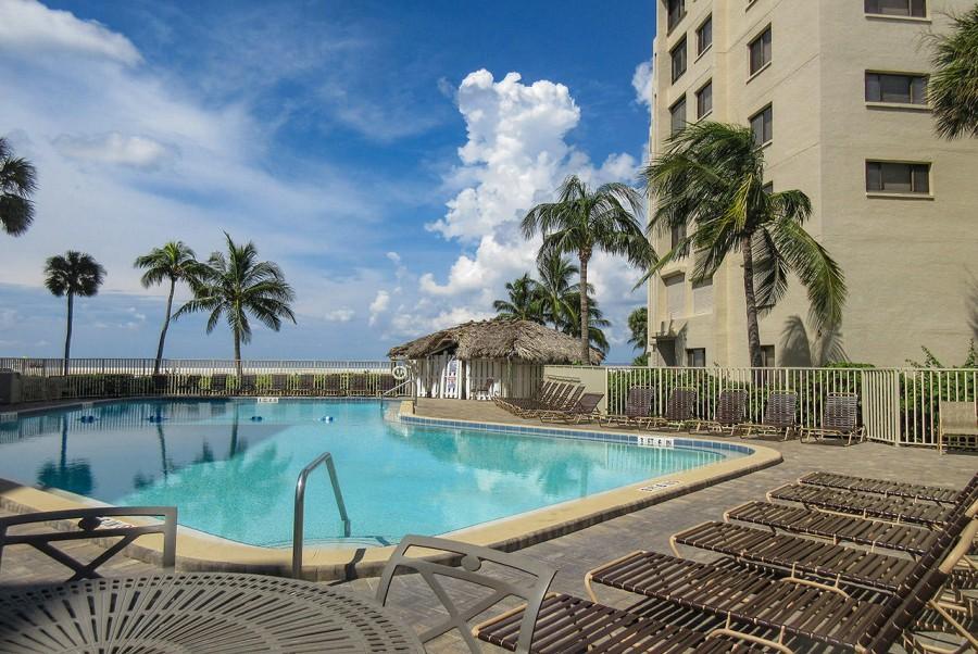 Beach side Sundeck and Resort Sized Heated Pool