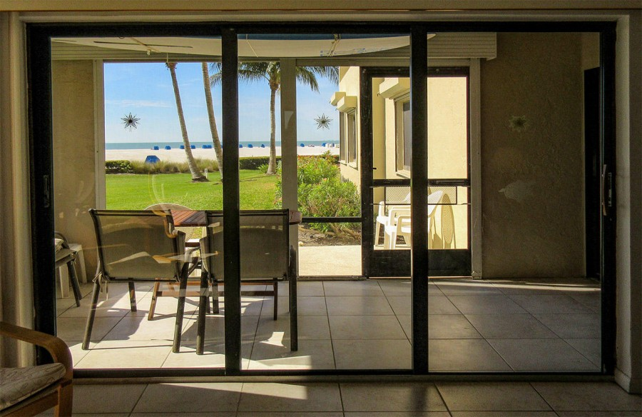 Screened In Lanai has a wonderful view of the beach and Gulf