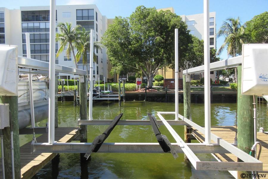 Boat Lift at Boat Dock 56 at Casa Marina