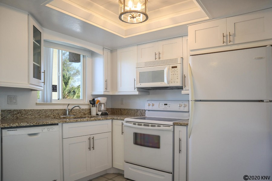 Estero Sands 202 has a beautiful new, and fully equipped, kitchen