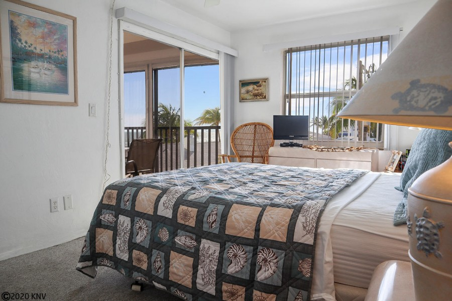 Master Bedroom has its own TV and private lanai access