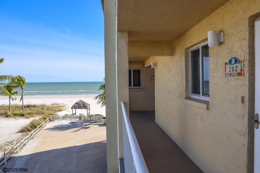 Welcome to Estero Sands 202 - second floor vacation condo right on the beach.
