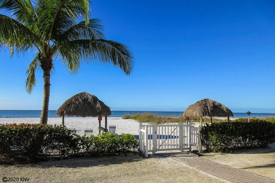 Estero Sands has a gorgeous beachfront right in their backyard.