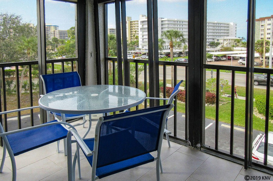 Estero Cove 521 is a corner unit with a lovely view of the island