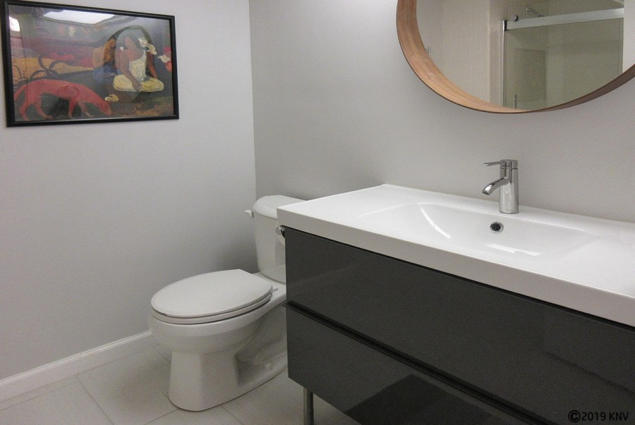 Master Bath has a large brand new vanity