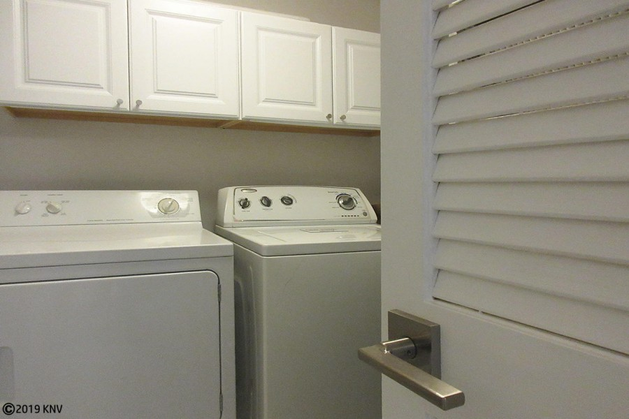 For your convenience, side by side washer and dryer in the condo.
