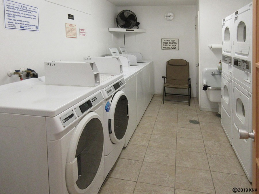Leonardo Arms has on-site laundry in the building