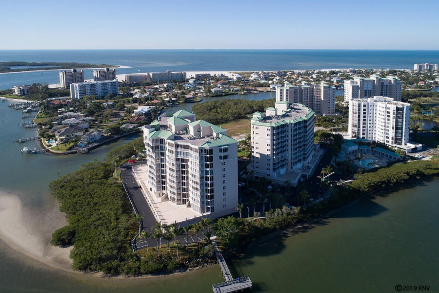 Waterside Luxury Condominiums sit on the southern tip of the island on the Bay.
