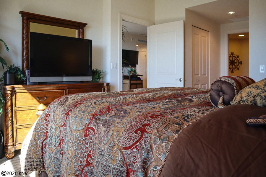 Master Bedroom features a large screen TV