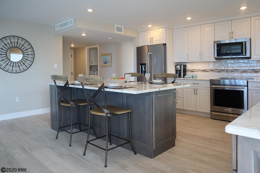 Gorgeous kitchen is newly remodeled and fully equipped for our guests.