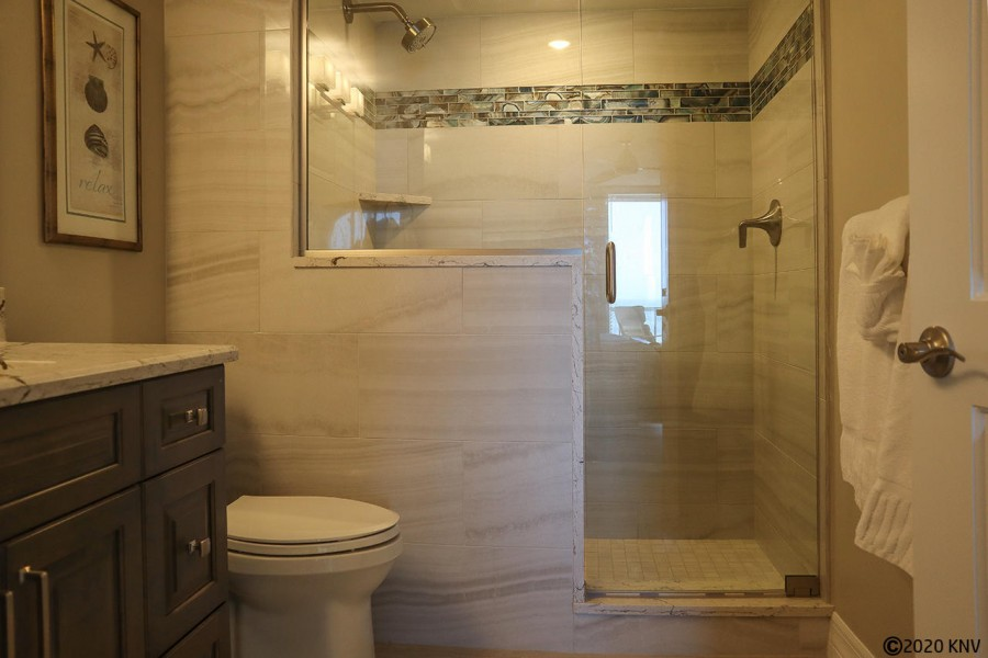 Newly Remodeled Master Bath with Walk In Shower