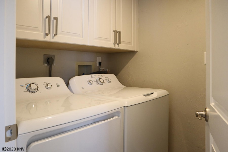 Full size washer and dryer in the Laundry Room.
